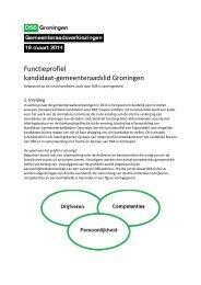 GR2014_Profiel Gemeenteraadsleden_Lijstrekker - D66 stad ...