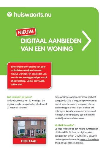 digitaal aanbieden van een woning - Veenendaalse Woningstichting