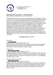 Boekenlijst dood en rouw PO - Educatieve Voorziening AMC/VUmc