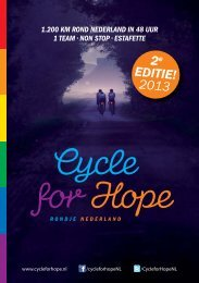 2e editie! 2013 - Cycle for Hope