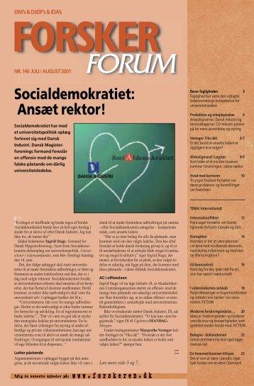 Socialdemokratiet: Ansæt rektor! - FORSKERforum