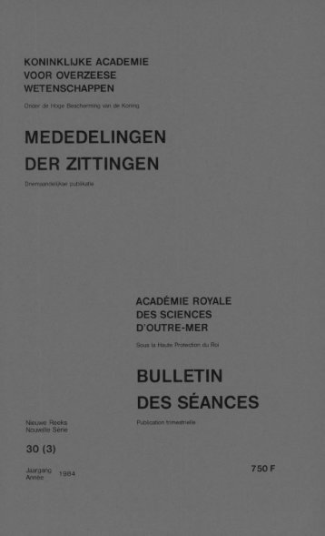 (1984) n°3 - Royal Academy for Overseas Sciences