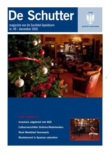 magazine van de Sociëteit Apeldoorn nr. 49 - december 2010