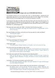 Frågor och svar COM HEM till TELIA - BRF Solskenet