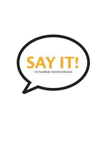 Say It - Förbundet Vi Unga