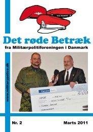 fra Militærpolitiforeningen i Danmark Nr. 2 Marts 2011