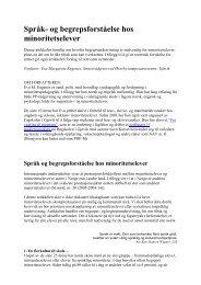 Språk- og begrepsforståelse hos minoritetselever - Begrepsportalen ...