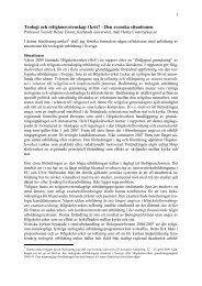 Teologi och religionsvetenskap i kris - Sveriges Kristna Råd