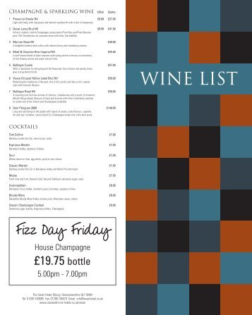 WINE LIST - Cotswold Inns & Hotels