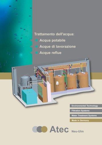 Trattamento delle acque reflue senza sostanze chimiche Atec ...