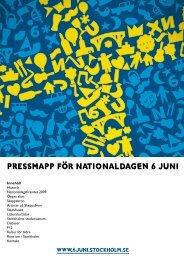 PRESSMAPP FÖR NATIONALDAGen 6 JUNI - Sveriges Kungahus