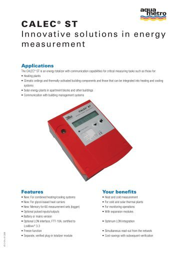 CALEC® ST Innovative solutions in energy measurement - gess.ae
