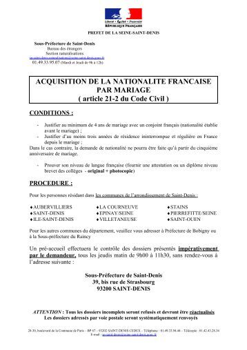 acquisition nationalite