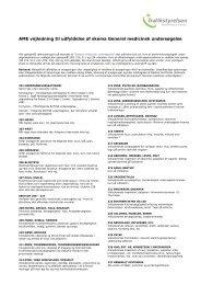 Lægeerklæring vejledning - Trafikstyrelsen