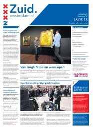Stramien Comet - Stadsdeel Zuid - Gemeente Amsterdam