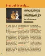 Piep zei de muis… - Dierenbescherming