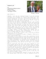 Fællesbrev no. 18 Fra Lisbeth & Steen Møllgaard Andersen ...