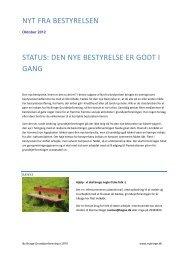 Nyt fra bestyrelsen oktober 2012 - Hjemmeside for Ny Bringe ...
