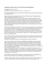 Prædiken til 2. søndag i advent, d. 9. dec. 2007 af ... - Sct. Peders sogn
