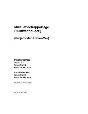 Milieueffectrapportage Pluimveehouderij - Commissie voor de ...