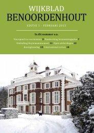 2013 / 1 - Wijkvereniging Benoordenhout