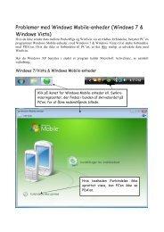 Problemer med Windows Mobile-enheder (Windows 7 & Windows ...
