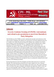 Editorial Severely Condemn Terming of CPI(ML) Anti-national, and ...
