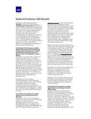 Kallelse till årsstämma i SAS AB (publ) - SAS Group