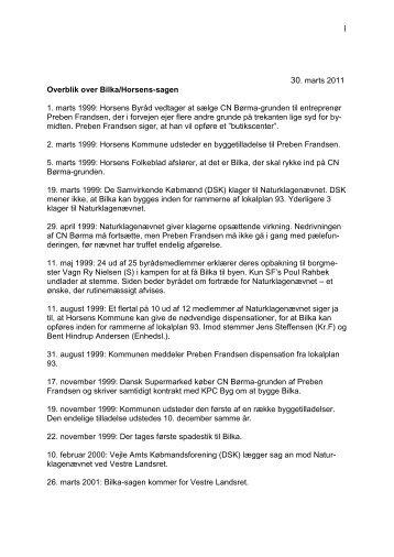 oversigt over Bilka i Horsens-sagen - DSK