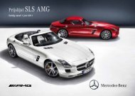 Prijslijst SLS AMG Coupé - Mercedes-Benz in België