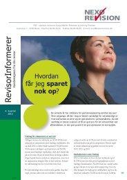 RevisorInformerer 4. kvartal 2012 - Nexø Revision