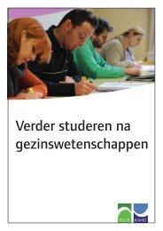 Verder studeren na Gezinswetenschappen - Hoger Instituut voor ...