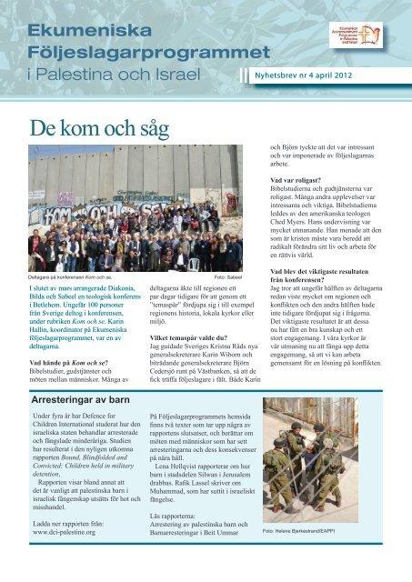 Ny placering i South Hebron Hills De kom och såg - Sveriges Kristna ...