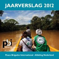 Jaarverslag 2012 PBI Nederland - Peace Brigades International