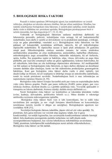 bioloģiskie riska faktori - Baltic Sea Network on Occupational Health ...