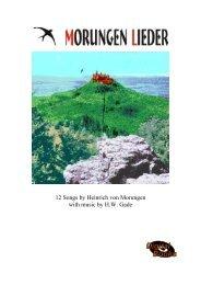MORUNGEN LIEDER - NORDISC Music & Text