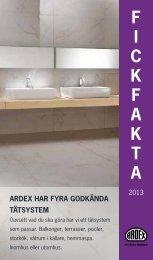F I C K F A K T A - ARDEX Sverige