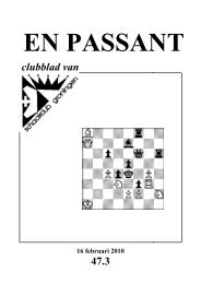 En Passant, jaargang 47, nummer 3, februari 2010 - Schaakclub ...
