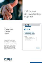 UVR: Immer ein zuverlässiger Begleiter - Stollfuß Medien