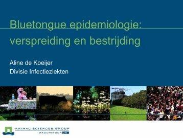 Bluetongue epidemiologie - Verspreiding en bestrijding