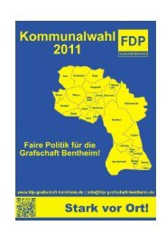 Kreiswahlprogramm zur Kommunalwahl 2011 - FDP Kreisverband ...