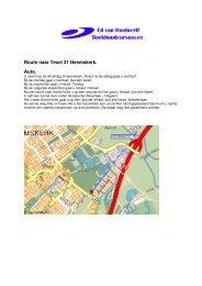 Routebeschrijving - Ed van Hoolwerff - Boekhoudcursussen