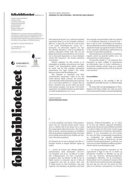 Folkebiblioteket desember 2012 - blogg - Deichmanske bibliotek
