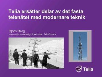 Info från Telia som berör trygghetslarm
