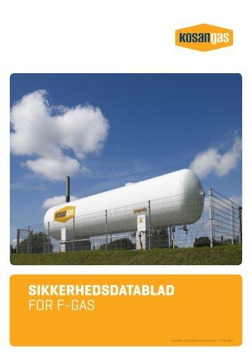 SIKKERHEDSDATABLAD FOR F-GAS - Kosan Gas