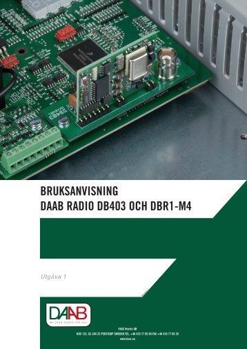 Bruksanvisning DB403 SE - FAAC
