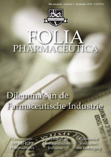 PHARMACEUTICA - Koninklijke Nederlandse Pharmaceutische ...