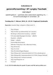 Indkaldelse til generalforsamling i SF Lyngby-Taarbæk
