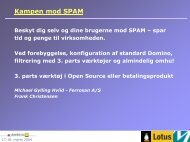 Kampen mod SPAM - DanNotes