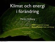Klimat i förändring – spelar det någon roll? - Climate ... - Winterwind